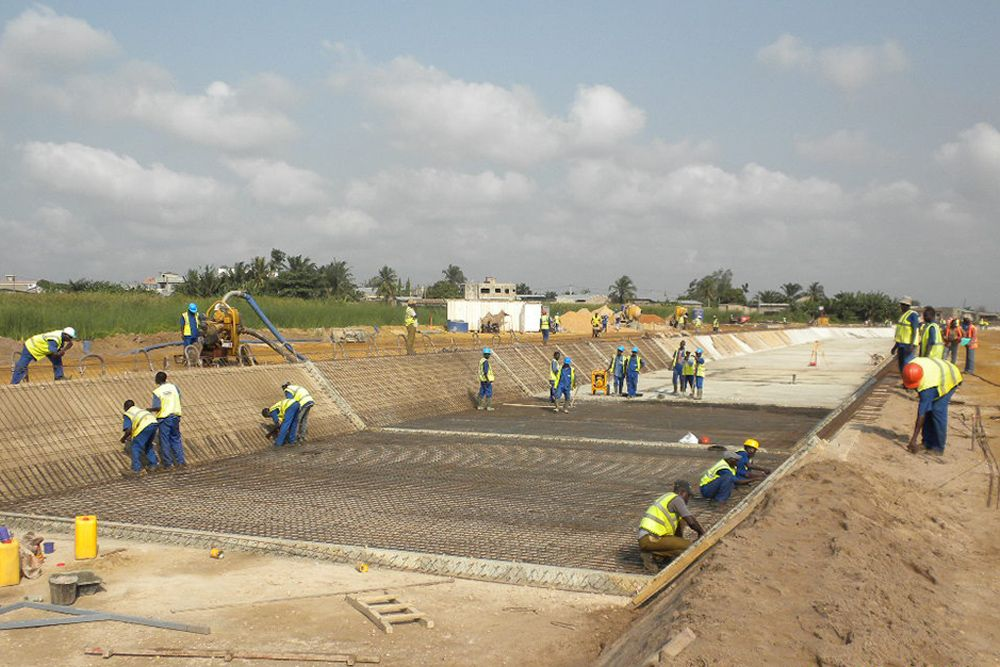 Progetto di drenaggio a Cotonou Benin